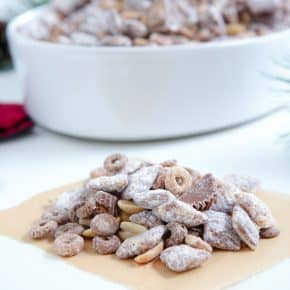 Chocolate Peanut Butter Cheerios™ Chex™ Muddy Buddies™ by Eclectic Recipes