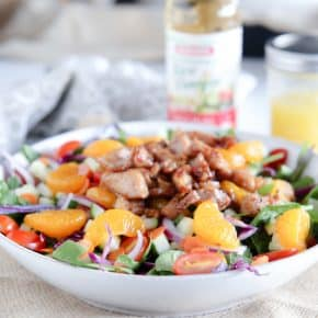 Orange Chicken Salad @EclecticEveryday