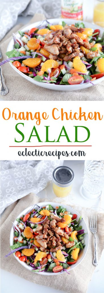 orange chicken salad banner