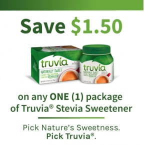 Save on Truvia® Stevia Sweetener! by Eclectic Recipes