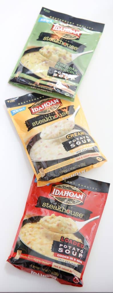 idahoan steakhouse bags in column