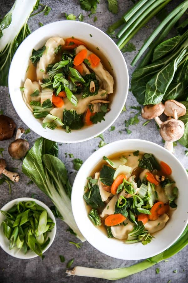 Potsticker Chicken & Vegetable Soup Recipe