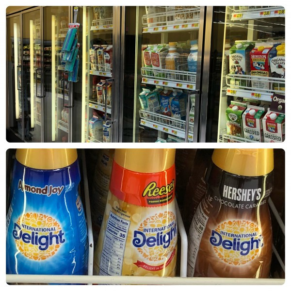 international delight in grocery aisle
