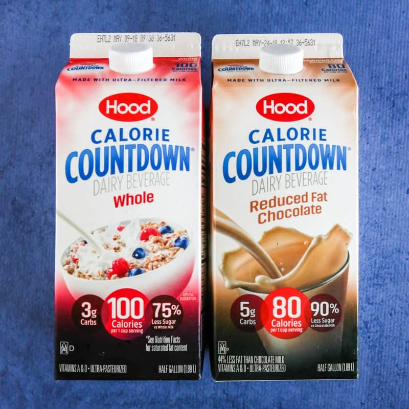 two cartons of hood calorie countdown