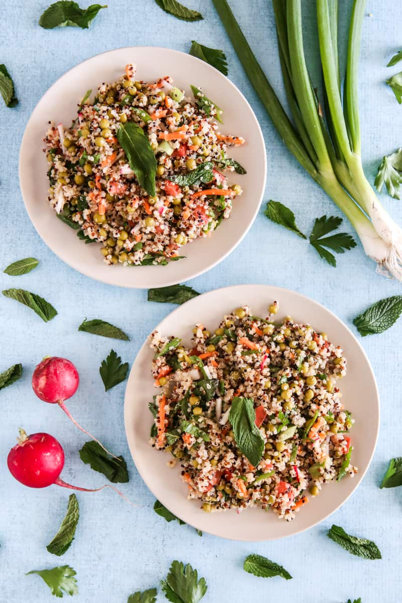 Spring Pea Quinoa Salad with Lemon Vinaigrette @EclecticEveryday