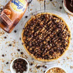 Samoa Chocolate Pie @EclecticEveryday