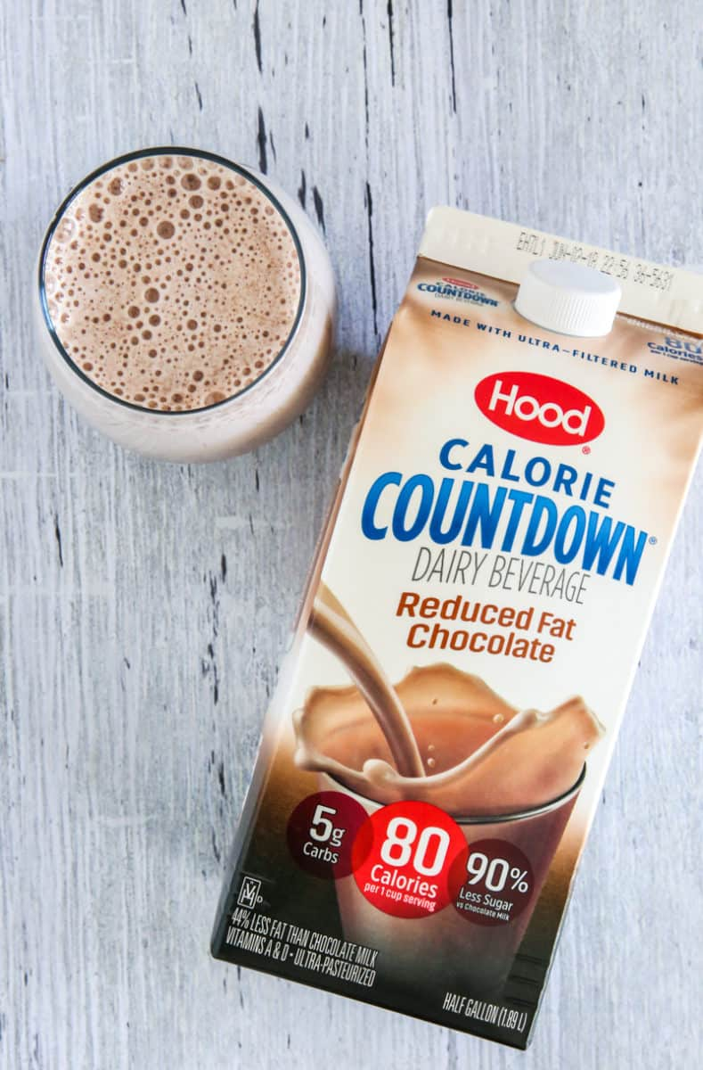 chocolate banana smoothie with hood calorie countdown dairy