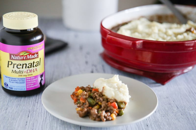 shepard's pie with prenatal vitamins
