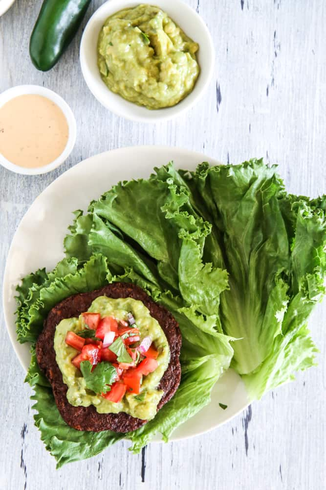 Spicy Lettuce Wrapped Veggie Burgers Recipe