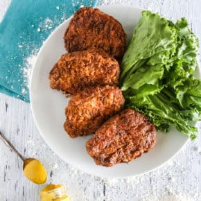 Mustard Fried Pork Chops @EclecticEveryday