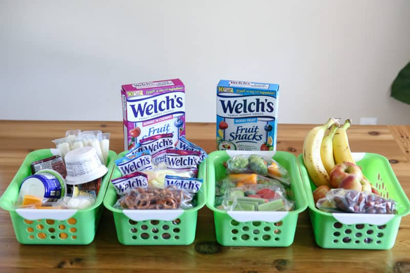 welches fruit snacks inside pantry bins