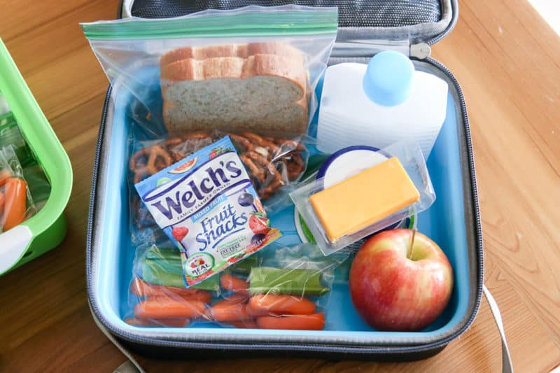 prepared lunch inside lunch box