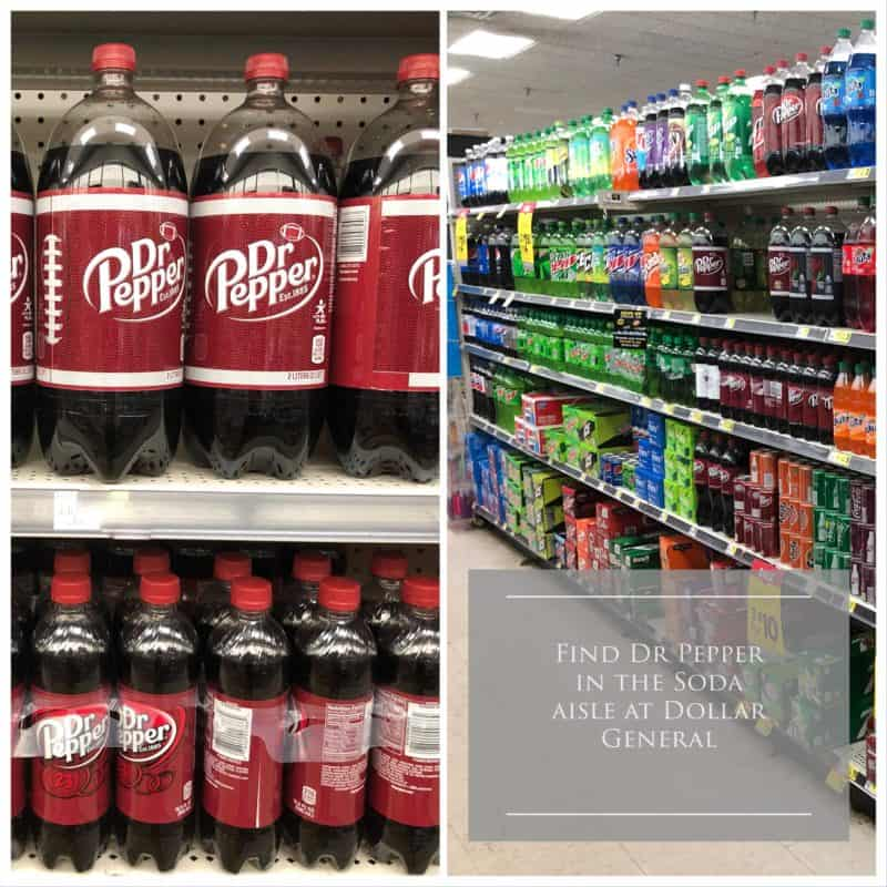 soda aisle with dr. pepper