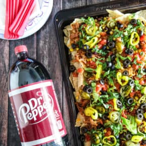 Dr Pepper Pulled Pork Nachos by Eclectic Recipes