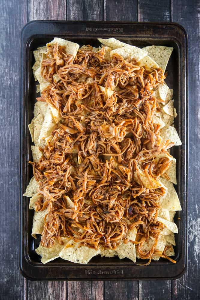 chips with pulled pork