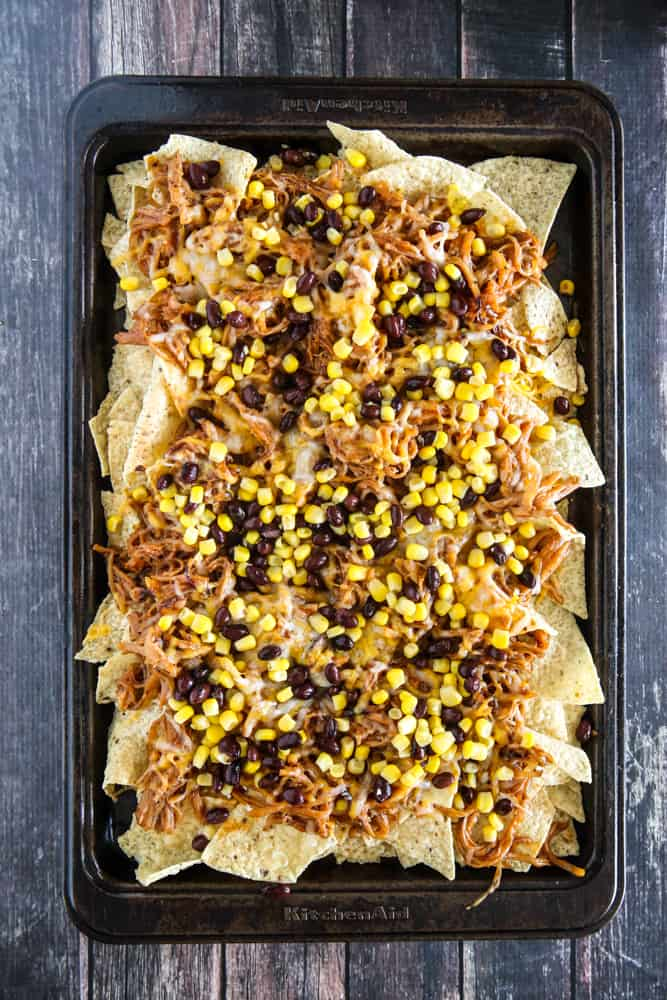 chips with black beans and corn
