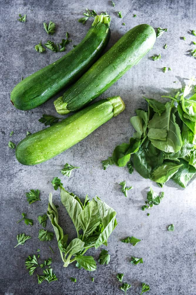 picture of zucchini and spinach
