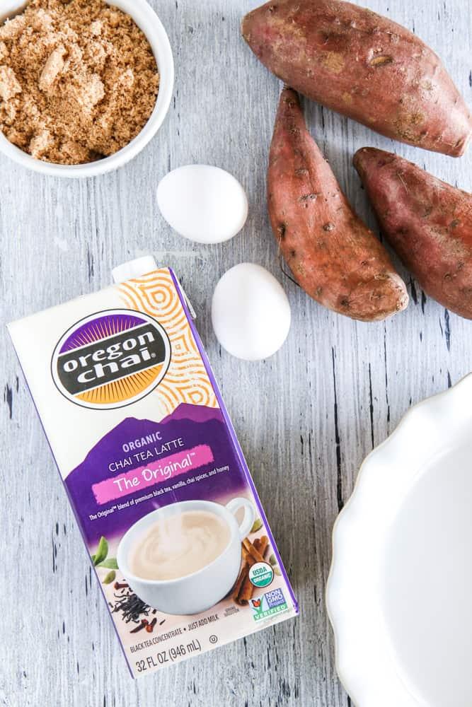 oregon chai carton with sweet potatoes
