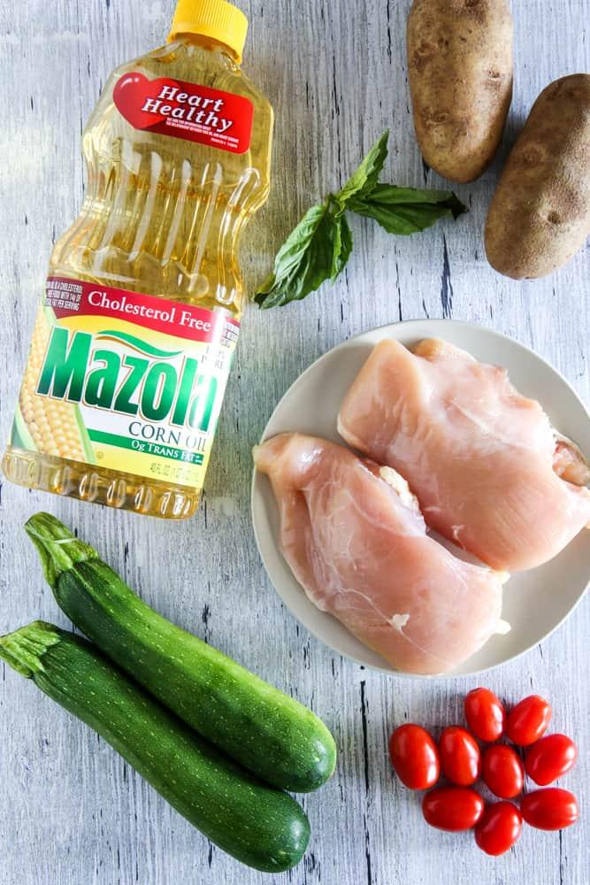 mazola corn oil and chicken