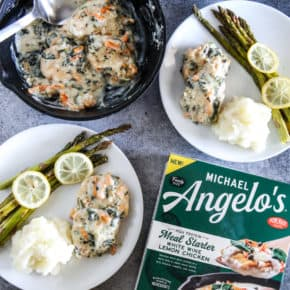 Michael Angelo's White Wine Lemon Chicken with Lemon Asparagus and Garlic Mashed Potatoes by Eclectic Recipes