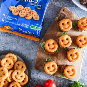 McCain Smiles Mini Cheeseburgers by Eclectic Recipes