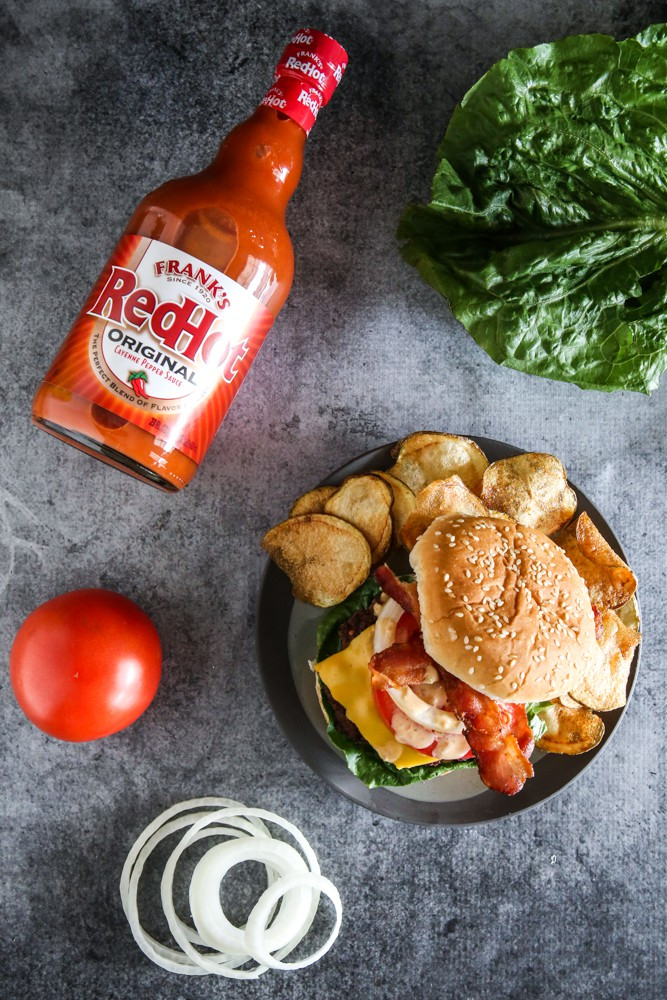 Frank's RedHot Bacon Cheeseburger & Ultimate HomeGate Sweepstakes Recipe