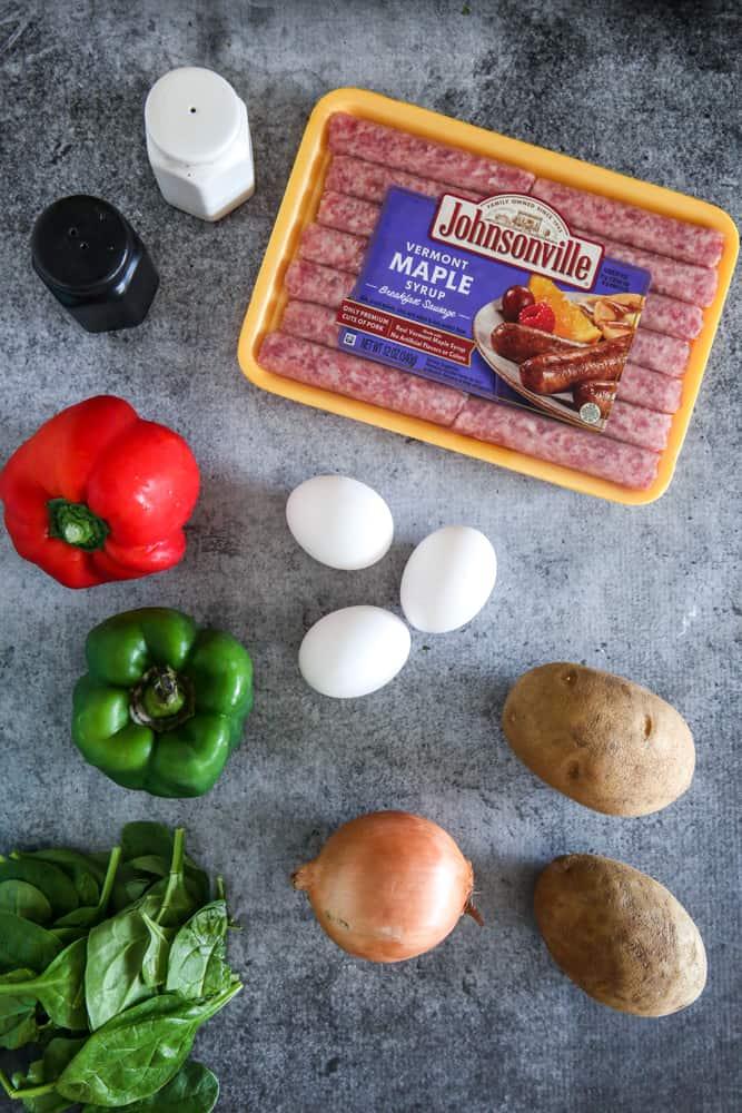 ingredients for tortilla española
