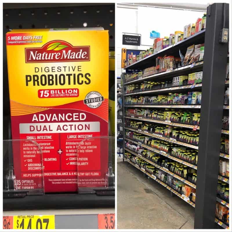 probiotics box in grocery aisle