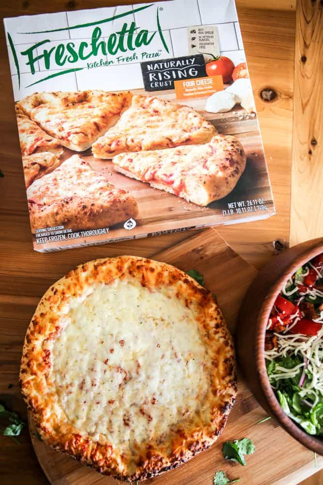 single four cheese freschetta pizza