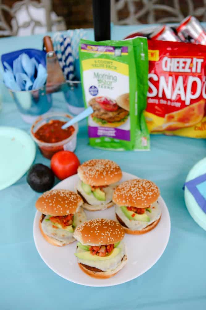 The Arizona Burger Recipe overhead photo with ingredients