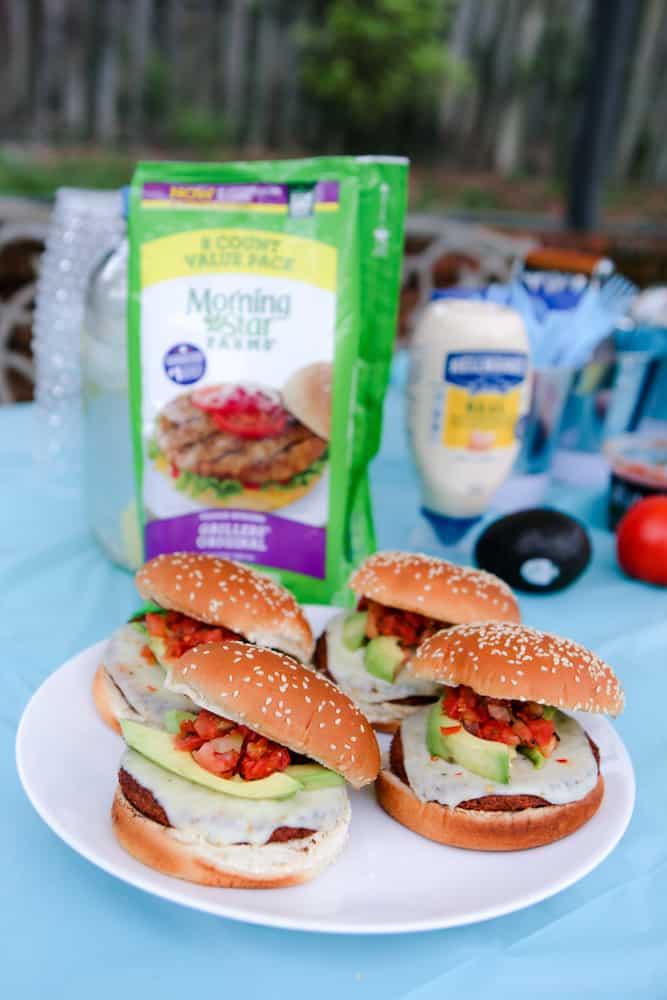 The Arizona Burger Recipe on blue background
