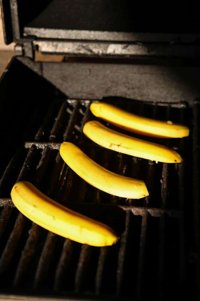 bananas on grill