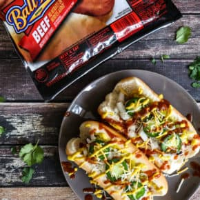 Loaded Bacon Wrapped Hot Dogs by Eclectic Recipes
