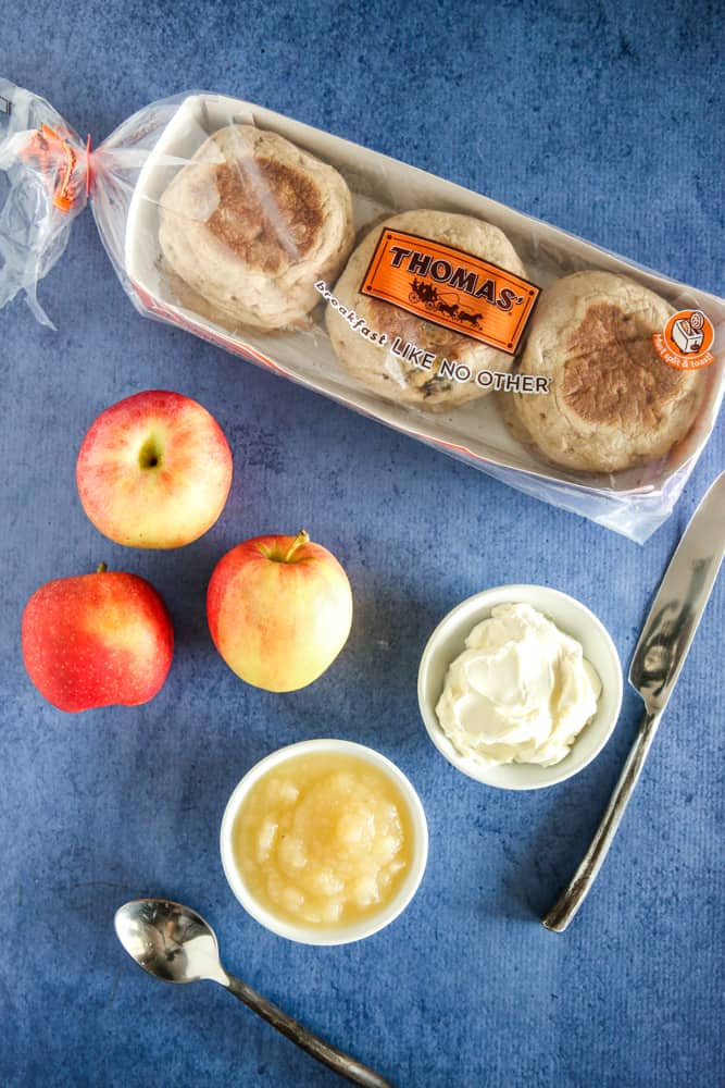 package of english muffins and apple sauce