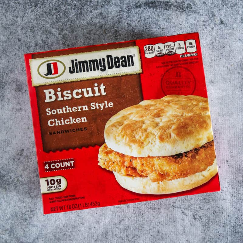 box of jim dean biscuits