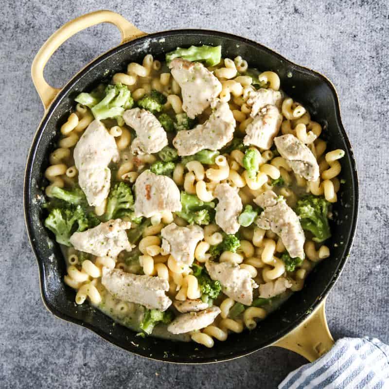 tyson dinner kit in yellow pan