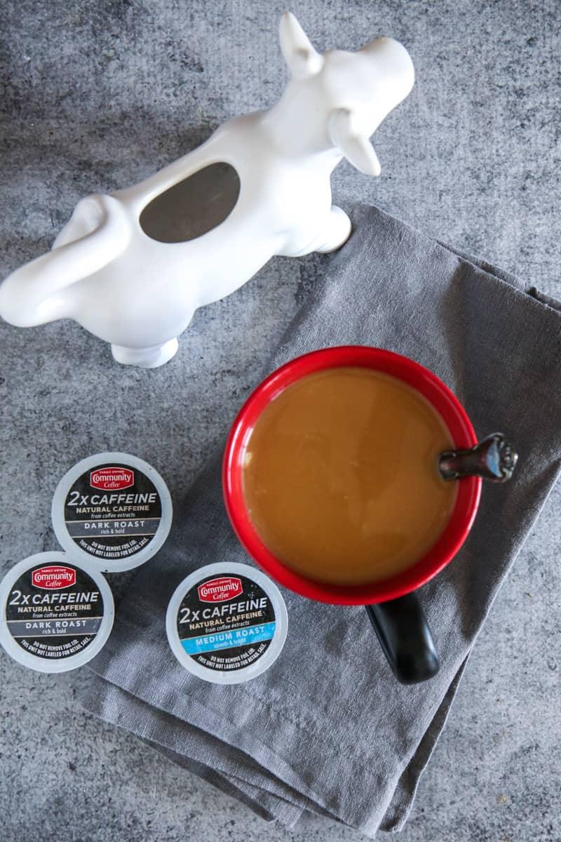 extra caffeine coffee with creamer