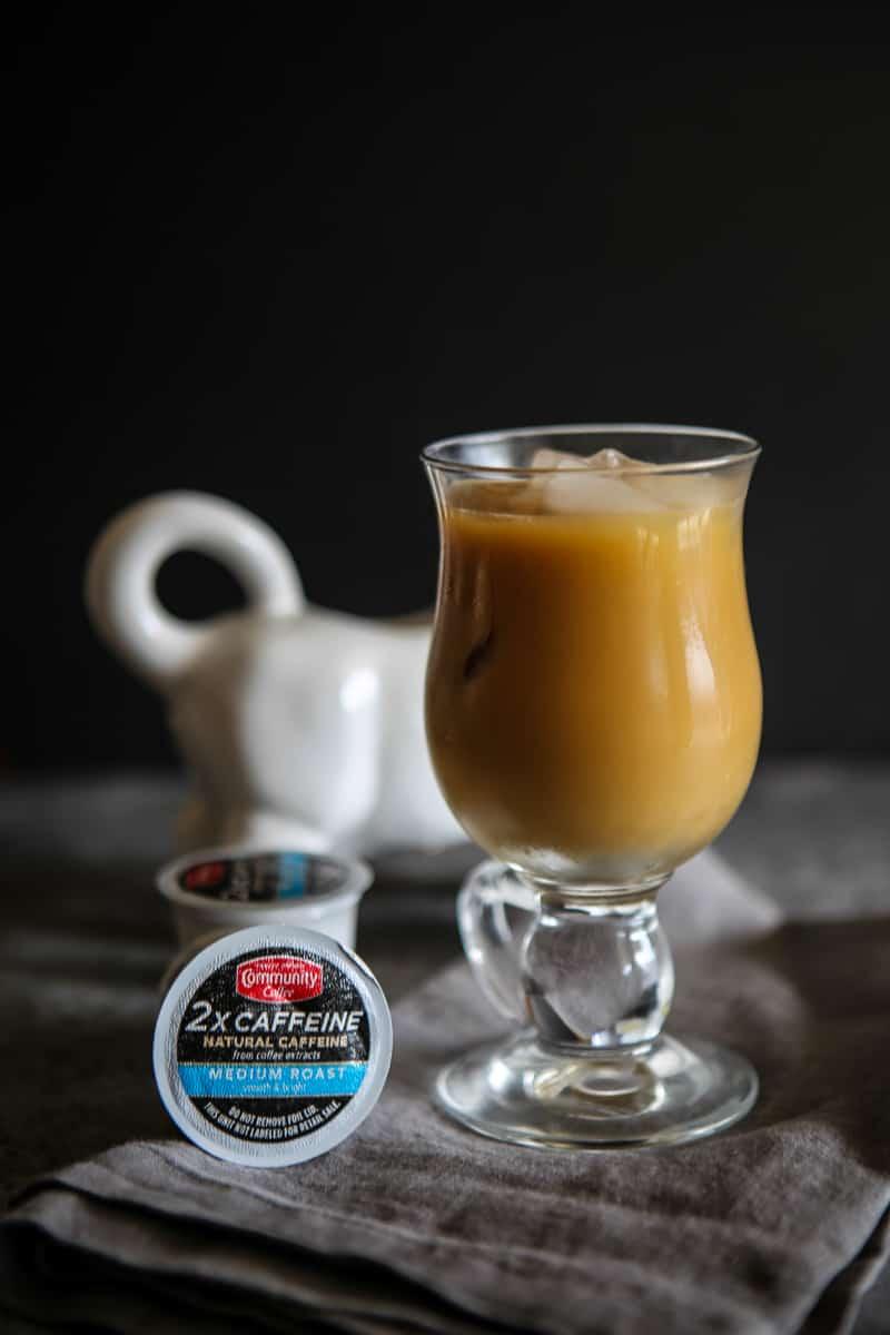 iced extra caffeine coffee