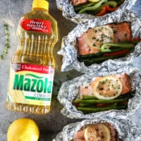 Lemon and Thyme Steelhead Trout Grilled Foil Packet Dinner