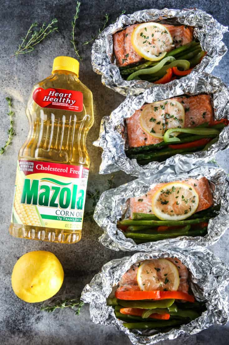 Lemon and Thyme Steelhead Trout Grilled Foil Packet Dinner Recipe