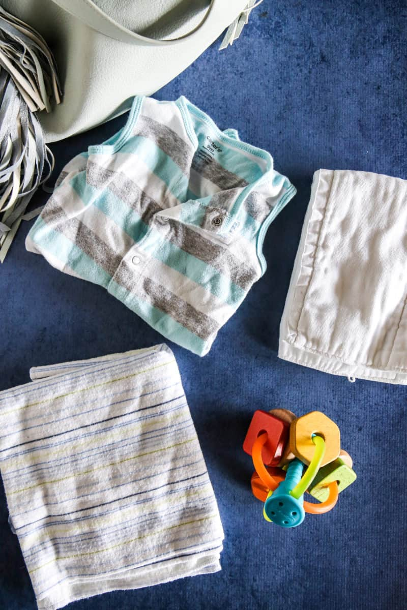 baby clothes and toy