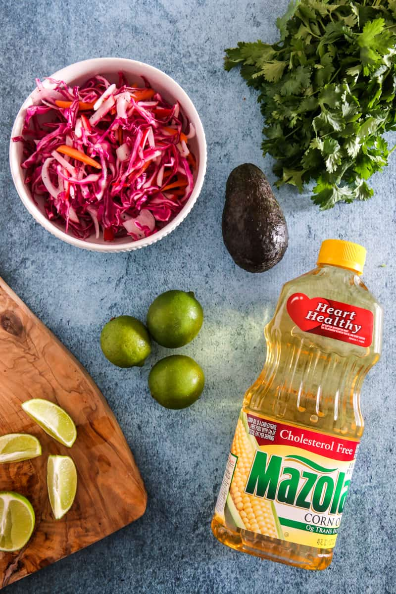 mazola corn oil with lime and avocado