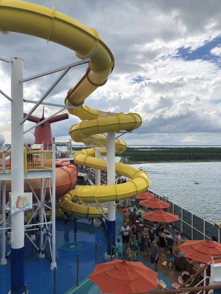 picture of yellow waterslide