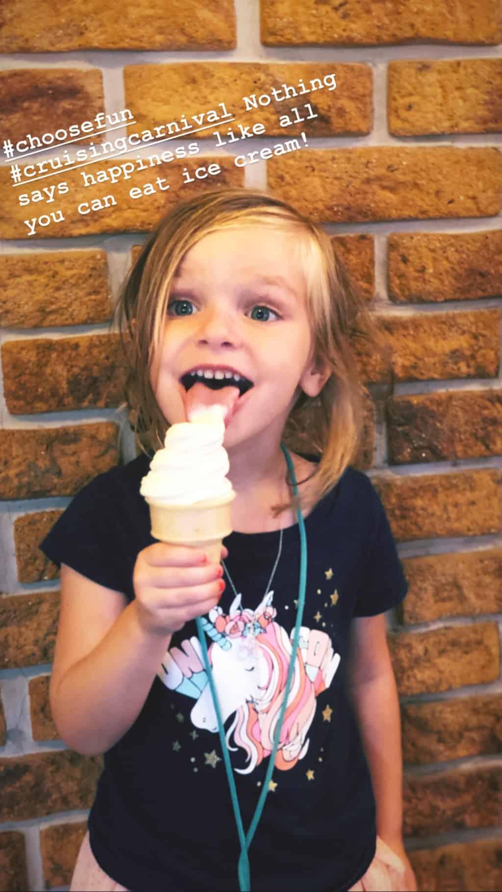 vanilla ice cream against brick wall
