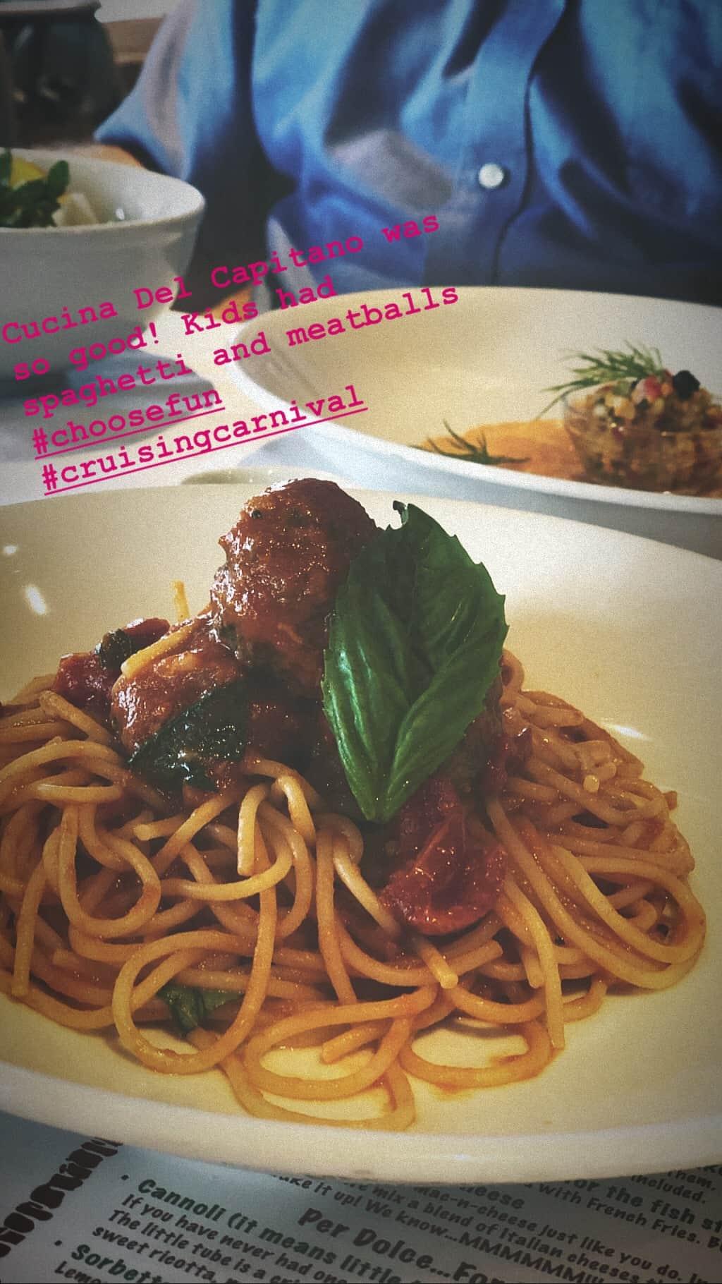 cucina del capitano spaghetti