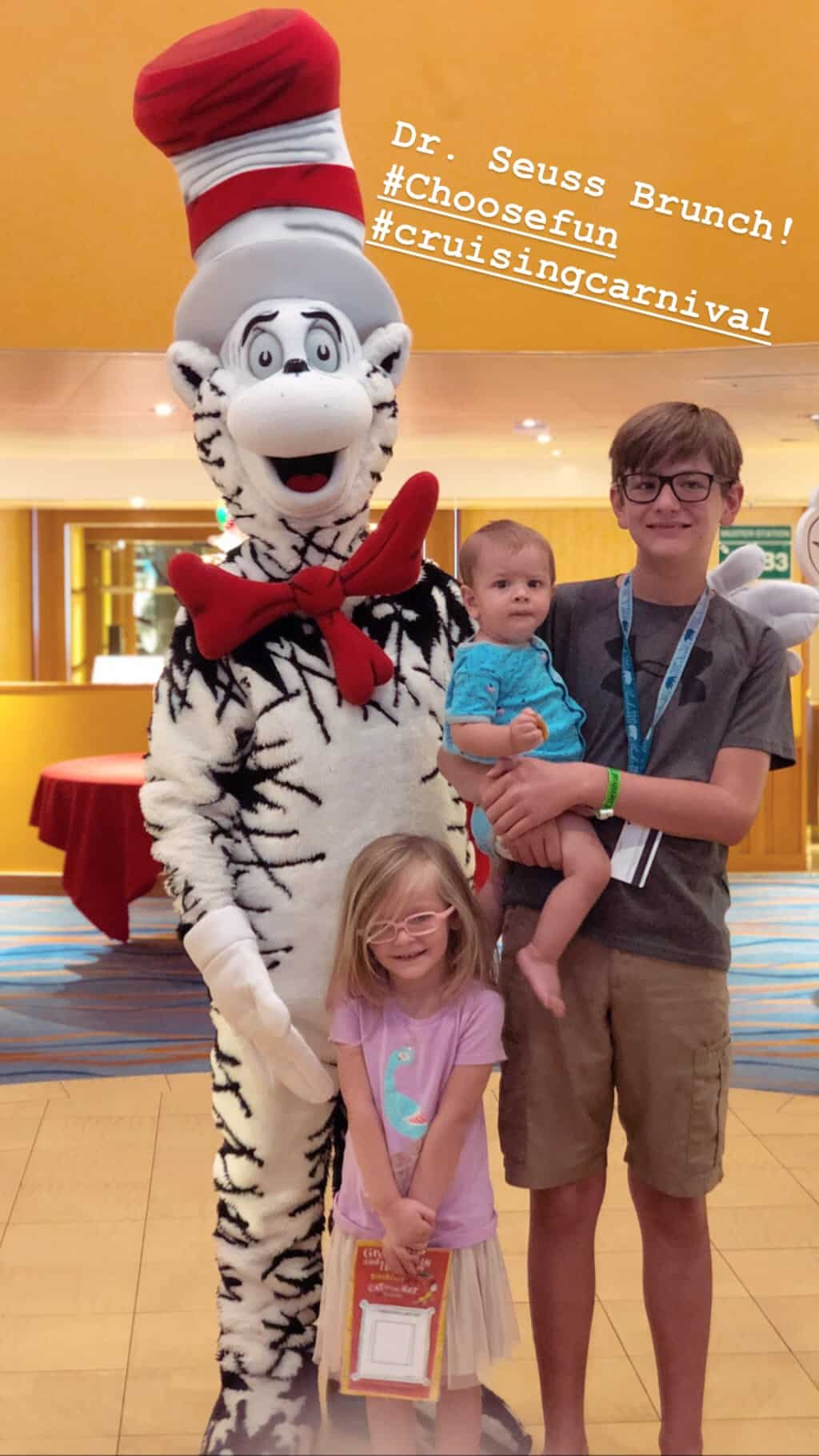 picture with the cat in the hat