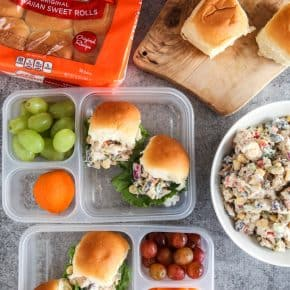 Tex Mex Chicken Salad Sliders by Eclectic Recipes