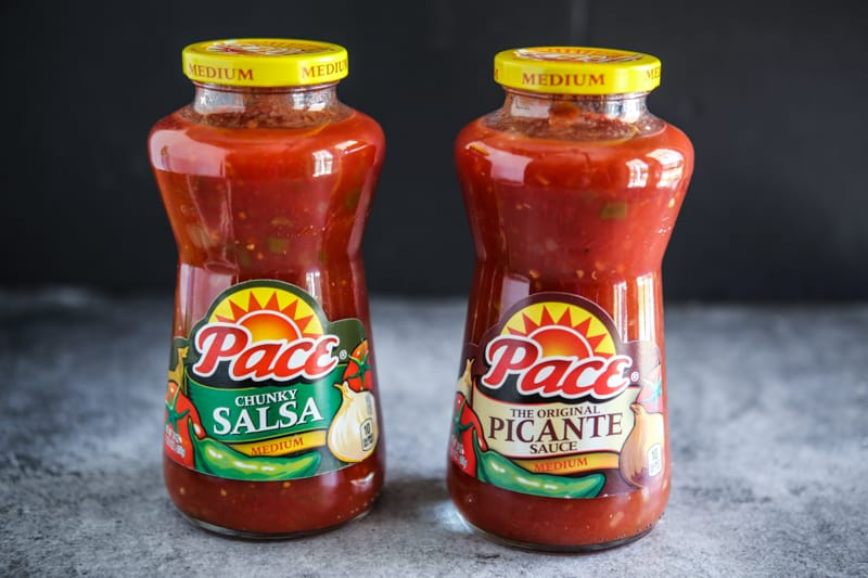 two jars of paco salsa