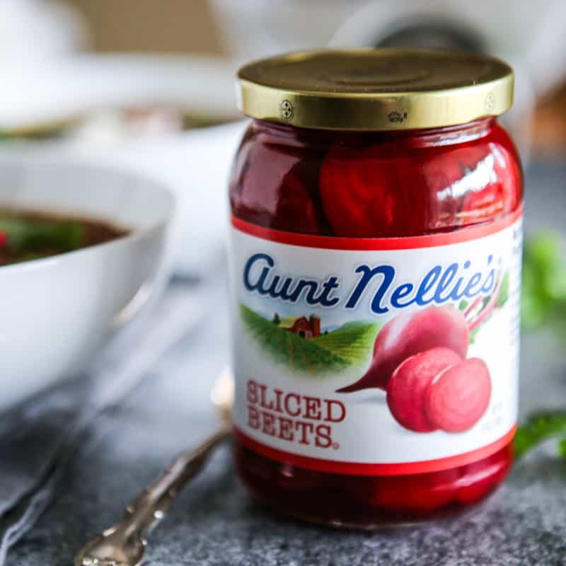 jar of aunt nellie's sliced beets