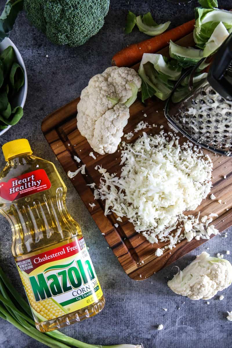 how to make cauliflower rice homemade